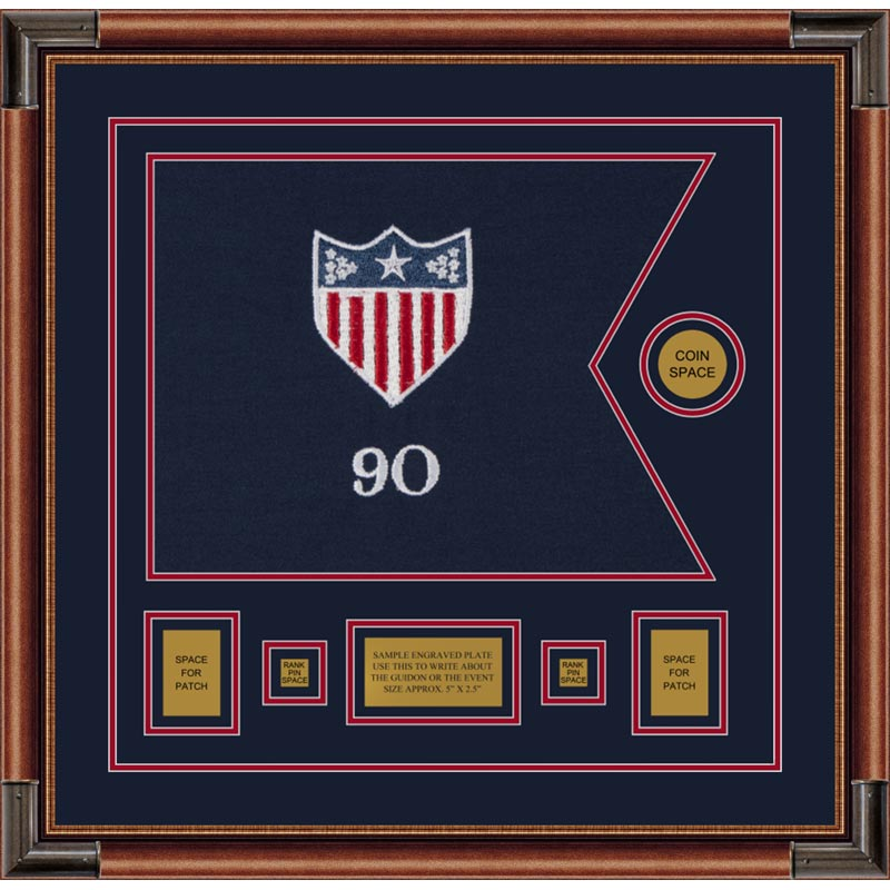 "Adjutant General 20"" x 15"" Guidon Design 2015-D1-M4 framed"