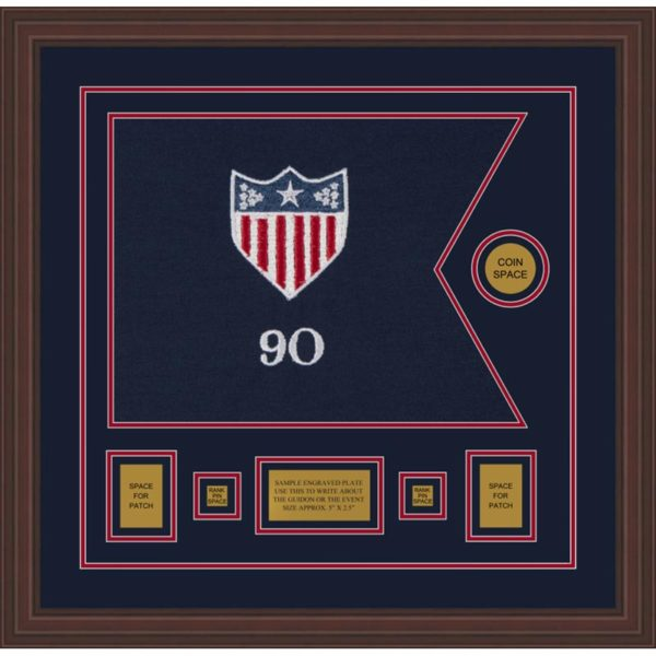 "Adjutant General 20"" x 15"" Guidon Design 2015-D1-M6 Framed"