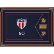 "Adjutant General 28"" x 20"" Guidon Design 2820-D1-M4 Framed"