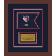 "Framed Adjutant General 7"" x 5"" Guidon Design75-D1-M3"