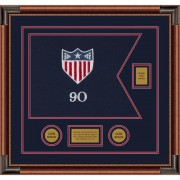 "Adjutant General 20"" x 15"" Guidon Design 2015-D2-M4 Framed"