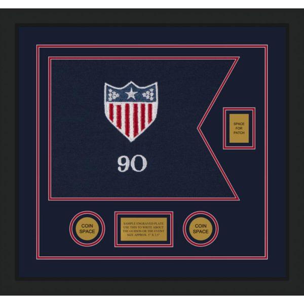 """Adjutant General 20"""" x 15"""" Guidon Design 2015-D2-M5 Framed"""