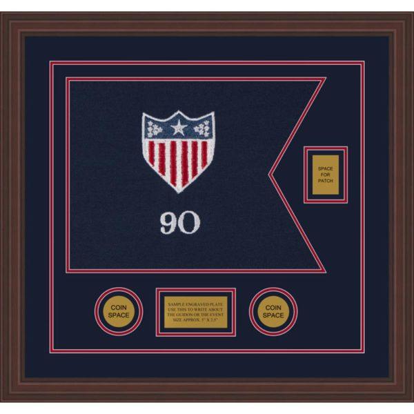 """Adjutant General 20"""" x 15"""" Guidon Design 2015-D2-M6 Framed"""