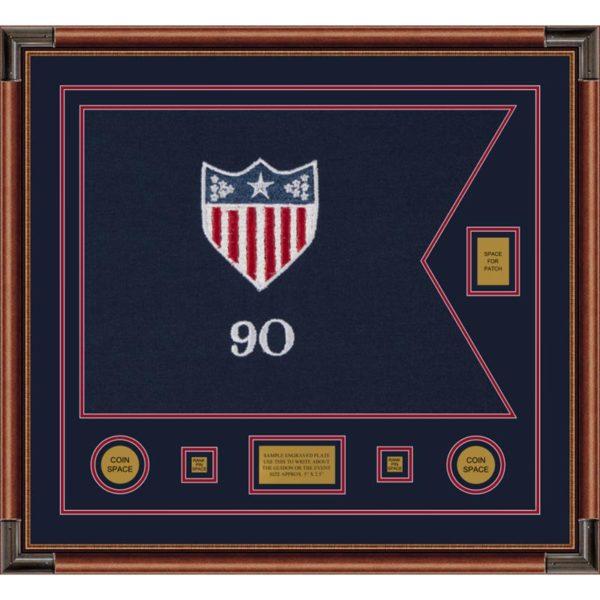 """Adjutant General 28"""" x 20"""" Guidon Design 2820-D2-M4 Framed"""