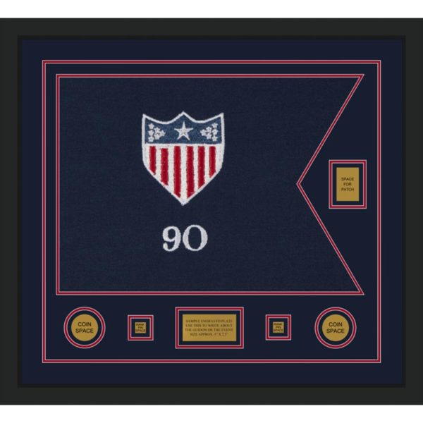"Adjutant General 28"" x 20"" Guidon Design 2820-D2-M5 Framed"