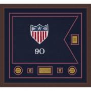 """Adjutant General 28"""" x 20"""" Guidon Design 2820-D2-M6 Framed"""