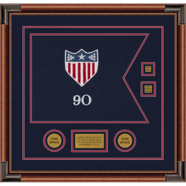 """Adjutant General 20"""" x 15"""" Guidon Design 2015-D3-M4 Framed"""