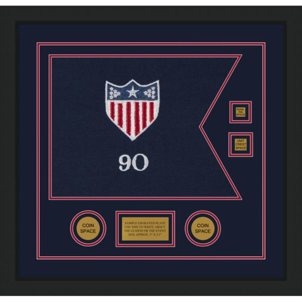 "Adjutant General 20"" x 15"" Guidon Design 2015-D3-M5 Framed"