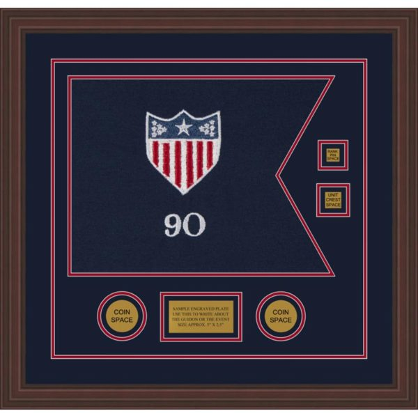 "Adjutant General 20"" x 15"" Guidon Design 2015-D3-M6 Framed"