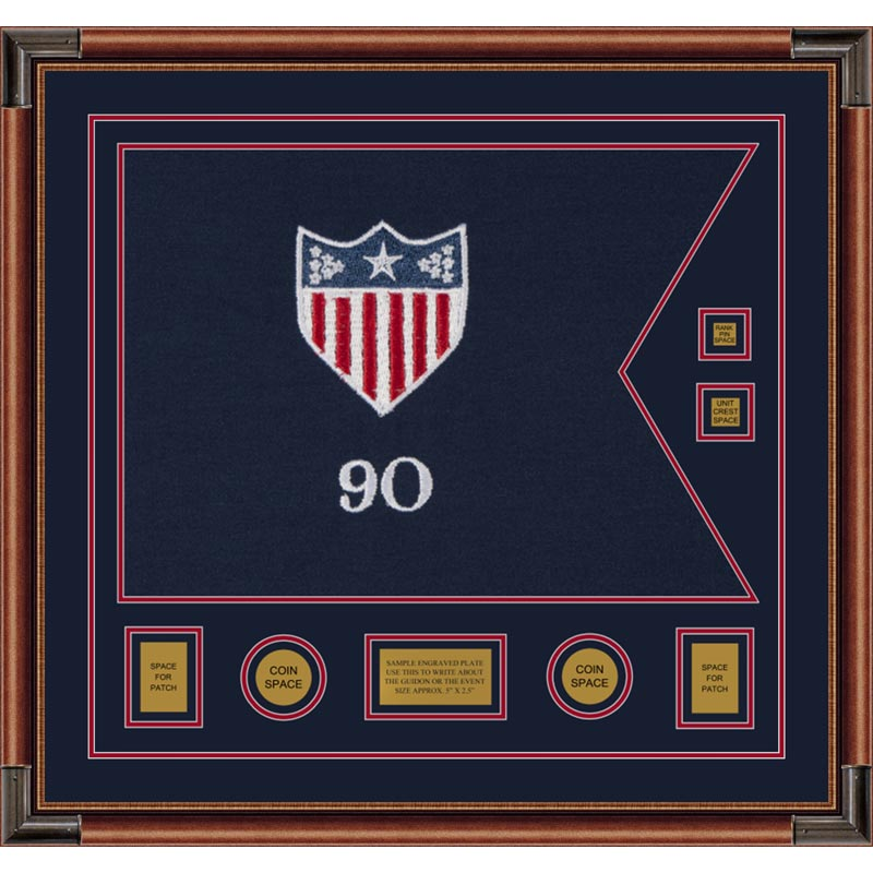 "Adjutant General 28"" x 20"" Guidon Design 2820-D3-M4 Framed"