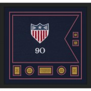 "Adjutant General 28"" x 20"" Guidon Design 2820-D3-M5 Framed"