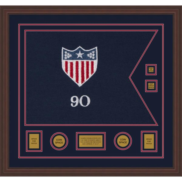 "Adjutant General 28"" x 20"" Guidon Design 2820-D3-M6 Framed"