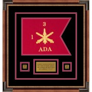 "Air Defense 12"" x 9"" Guidon Design 129-D1-M1 Framed"