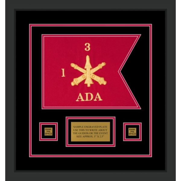 "Air Defense 12"" x 9"" Guidon Design 129-D1-M2 Framed"