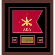 "Air Defense 12"" x 9"" Guidon Design 129-D1-M3 Framed"