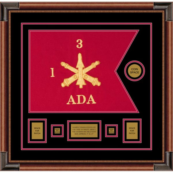 "Air Defense 20"" x 15"" Guidon Design 2015-D1-M4 Framed"