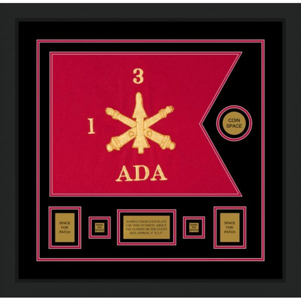 "Air Defense 20"" x 15"" Guidon Design 2015-D1-M5 Framed"