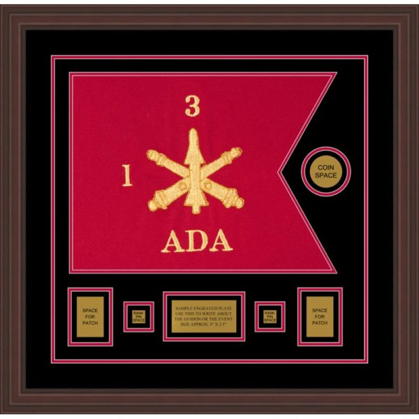 "Air Defense 20"" x 15"" Guidon Design 2015-D1-M6 Framed"