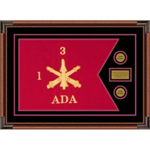 "Air Defense 28"" x 20"" Guidon Design 2820-D1-M4 Framed"