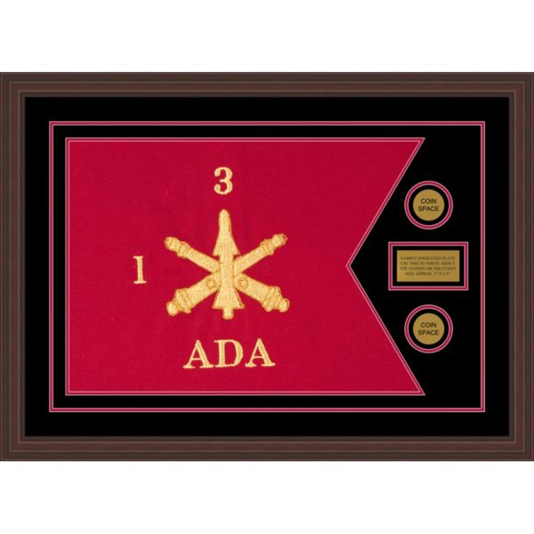 "Air Defense 28"" x 20"" Guidon Design 2820-D1-M6 Framed"