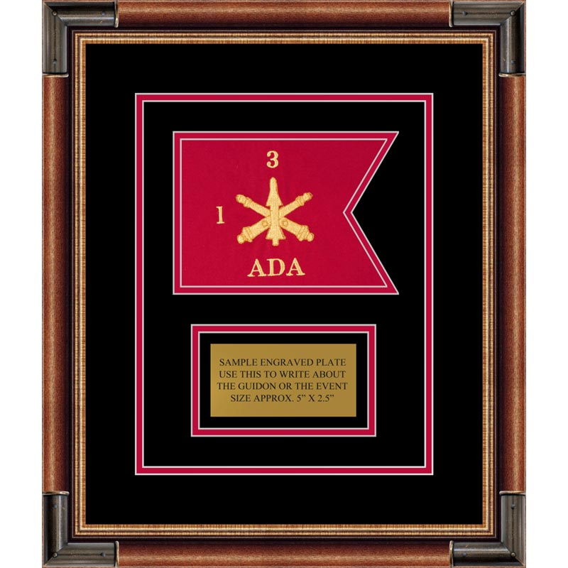 "Air Defense 7"" x 5"" Guidon Design75-D1-M1 Framed"
