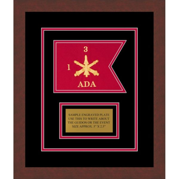 "Air Defense 7"" x 5"" Guidon Moulding Design 75-D1-M3 Framed"