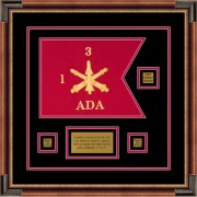 "Air Defense 12"" x 9"" Guidon Design 129-D2-M1 Framed"