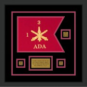 "Air Defense 12"" x 9"" Guidon Design 129-D2-M2 Framed"