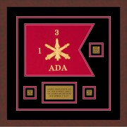 "Air Defense 12"" x 9"" Guidon Design 129-D2-M3 Framed"