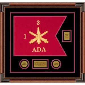 "Air Defense 20"" x 15"" Guidon Design 2015-D2-M4 Framed"