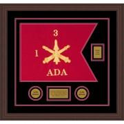 "Air Defense 20"" x 15"" Guidon Design 2015-D2-M6 Framed"