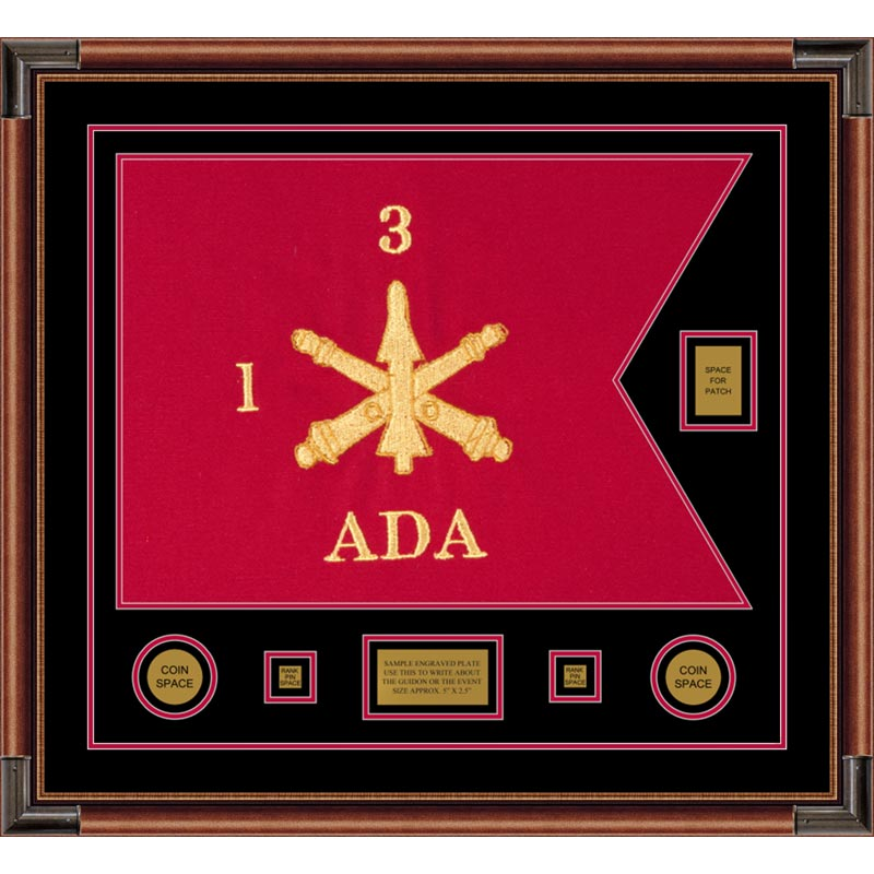 "Air Defense 28"" x 20"" Guidon Design 2820-D2-M4 Framed"