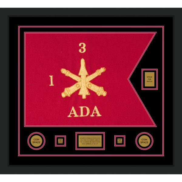 "Air Defense 28"" x 20"" Guidon Design 2820-D2-M5 Framed"