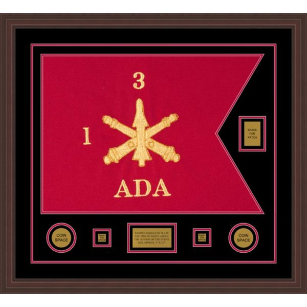 "Air Defense 28"" x 20"" Guidon Design 2820-D2-M6 Framed"