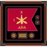 "Air Defense 20"" x 15"" Guidon Design 2015-D3-M4 Framed"