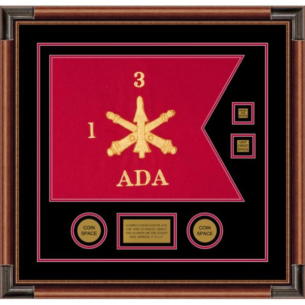 "Air Defense 20"" x 15"" Guidon Design 2015-D3-M4 Framed"