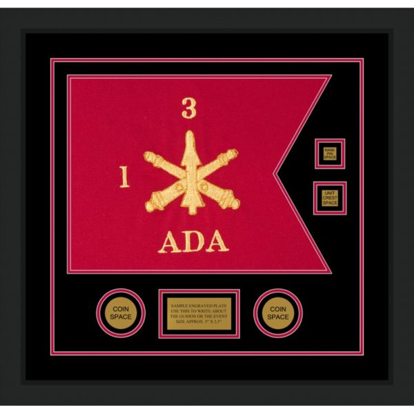 "Air Defense 20"" x 15"" Guidon Design 2015-D3-M5 Framed"