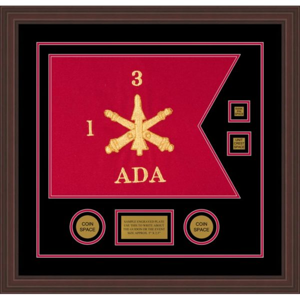 "Air Defense 20"" x 15"" Guidon Design 2015-D3-M6 Framed"