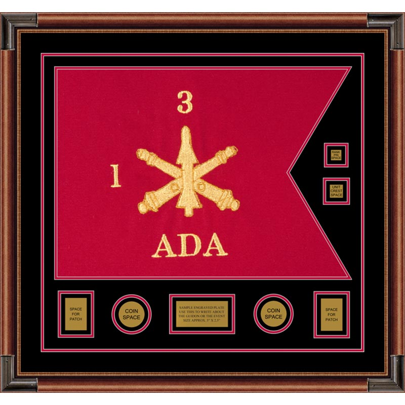"Air Defense 28"" x 20"" Guidon Design 2820-D3-M4 Framed"