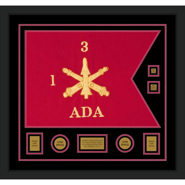 "Air Defense 28"" x 20"" Guidon Design 2820-D3-M5 Framed"