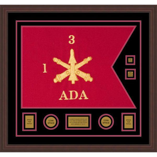 "Air Defense 28"" x 20"" Guidon Design 2820-D3-M6 Framed"