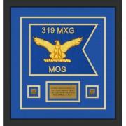 """Air Force 12"""" x 9"""" Guidon Design 129-D1-M2 Framed"""