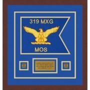 """Air Force 12"""" x 9"""" Guidon Design 129-D1-M3 Framed"""