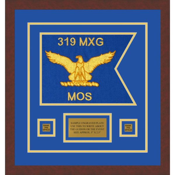 "Air Force 12"" x 9"" Guidon Design 129-D1-M3 Framed"