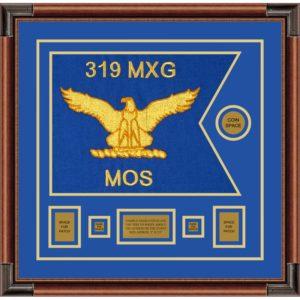 """Air Force 20"""" x 15"""" Guidon Design 2015-D1-M4 Framed"""