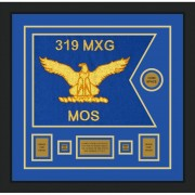 "Air Force 20"" x 15"" Guidon Design 2015-D1-M5 Framed"