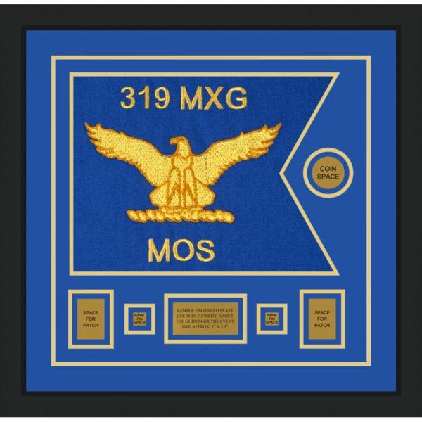 """Air Force 20"""" x 15"""" Guidon Design 2015-D1-M5 Framed"""