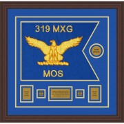 "Air Force 20"" x 15"" Guidon Design 2015-D1-M6 Framed"