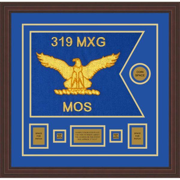 """Air Force 20"""" x 15"""" Guidon Design 2015-D1-M6 Framed"""
