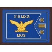 """Air Force 28"""" x 20"""" Guidon Design 2820-D1-M6 Framed"""
